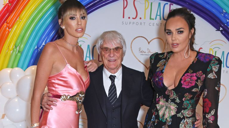 Petra Ecclestone, Bernie Ecclestone and Tamara Ecclestone attend the inaugural fundraising dinner for The Petra Stunt Foundation in aid of PS Place at the Corinthia Hotel London on June 19, 2017 in London, England