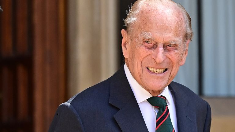 Prince Philip, Duke of Edinburgh during the transfer of the Colonel-in-Chief of The Rifles at Windsor Castle on July 22, 2020 in Windsor