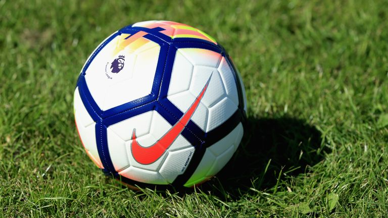 A Premier League match ball in 2017