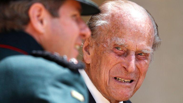 The Duke of Edinburgh looked spritely