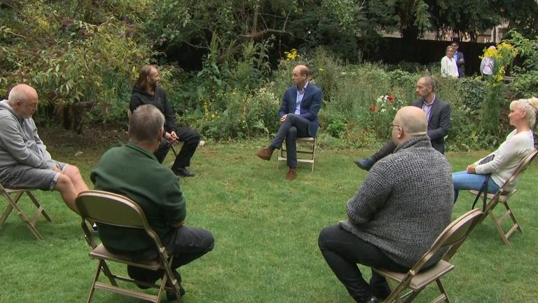 The prince met former rough sleepers in Cambridgeshire