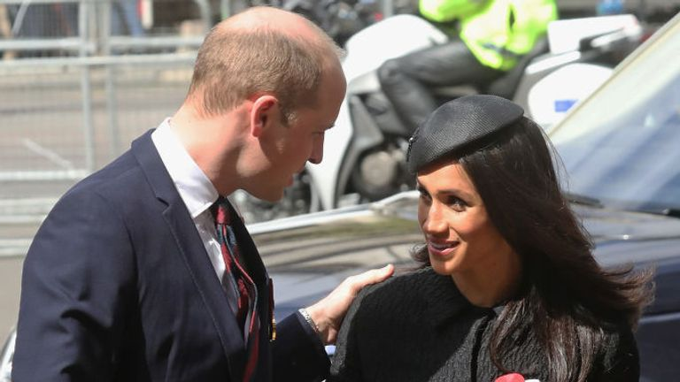 Prince William's words about Meghan were said to have upset Harry. The duo are pictured in 2018