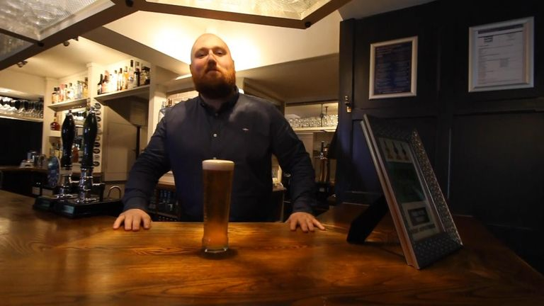 Pub landlord Tom Ledsham