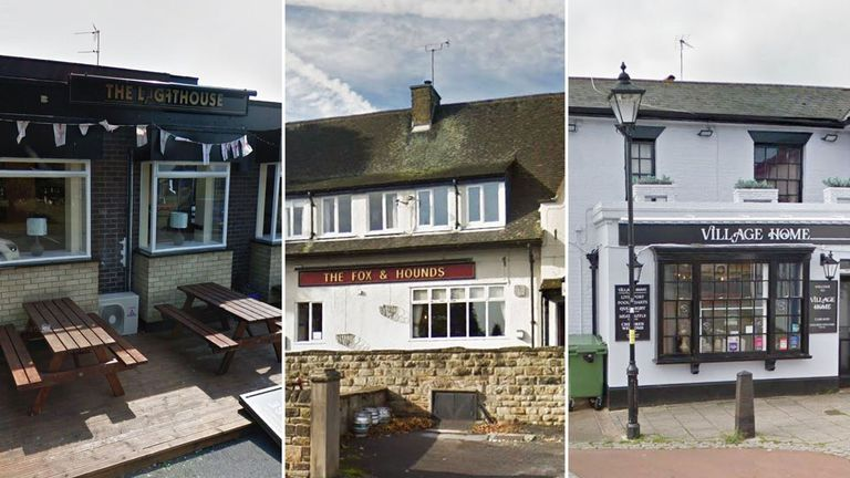 The Lighthouse, The Fox and Hounds and the Village Home are all closed. Pic: Google Street View