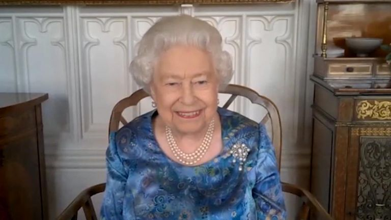 Her Majesty The Queen has taken part in a video call with members of the armed forces on deployment around the world.