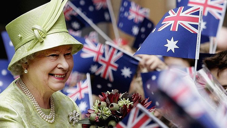 The Queen pictured in Melbourne in 2006