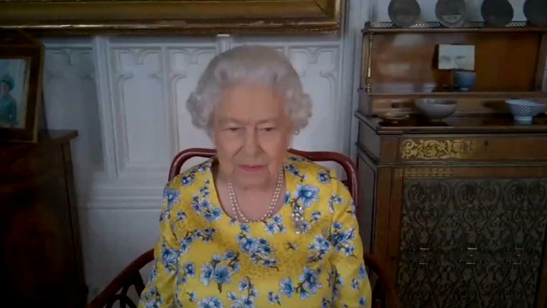 The Queen joined a virtual call with the Foreign and Commonwealth Office.