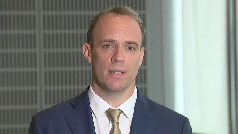 Raab discusses what repercussions Russia should face for meddling with COVID vaccine research