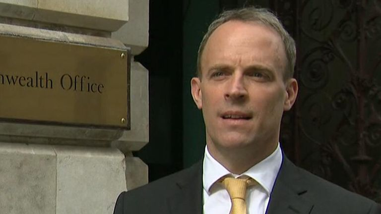 Foreign secretary Dominic Raab said the UK government had 'reasonable confidence' Russian 'actors' tried to interfere in UK 2019 general election