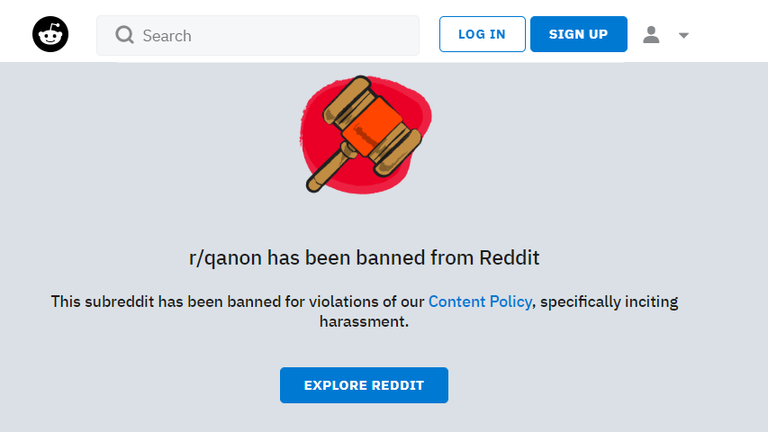 Reddit banned the QAnon community