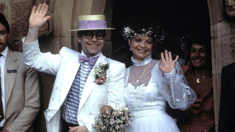 The couple wed in 1984