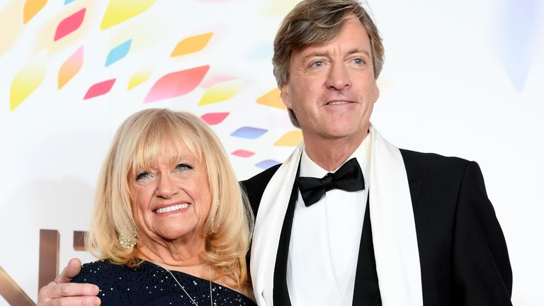 Judy Finnigan and Richard Madeley pose in the winners room during the National Television Awards 2020 at The O2 Arena on January 28, 2020 in London, England