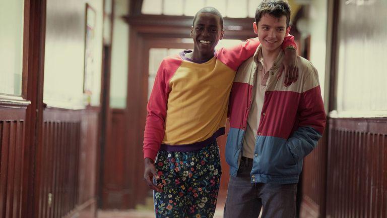 Ncuti Gatwa and Asa Butterfield in Sex Education. Pic: Sam Taylor/ Netflix