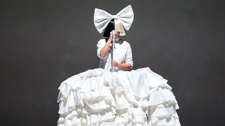 Sia performs at Barclays Center on October 25, 2016 in New York City