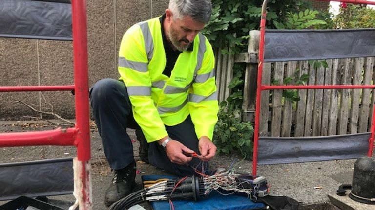 Dave Snowdon works for OpenReach in Birmingham