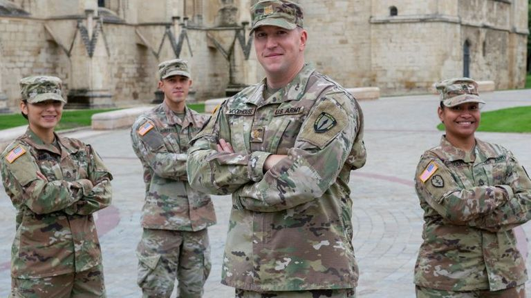 US Army troops are based in Gloucester as one of the 21 nations serving with NATO's Allied Rapid Reaction Corps