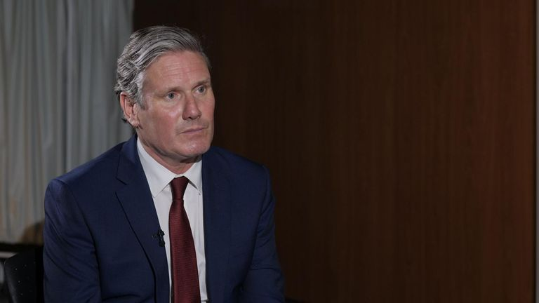 Labour leader Sir Keir Starmer was quizzed by Sky's Beth Rigby on the prime minister's handling of the pandemic