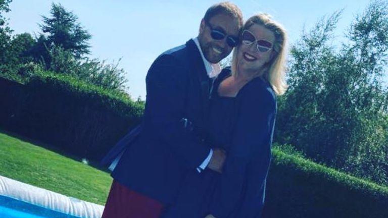 Stephen Graham and his wife Hannah Walters ahead of the virtual BAFTA TV Awards. Pic: @StephenGraham73/ Twitter