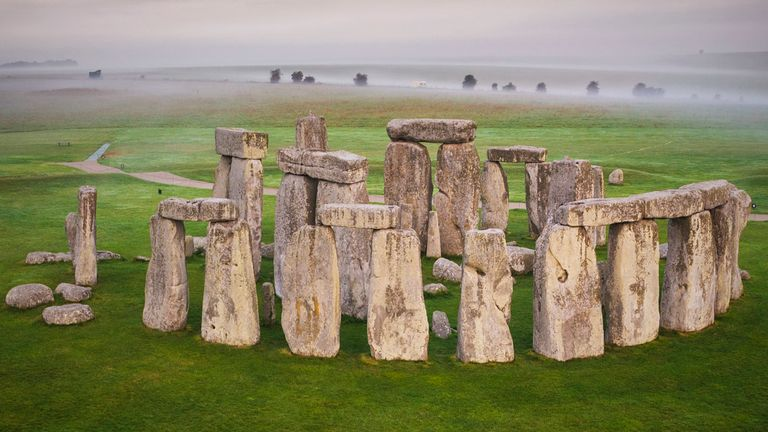"""Embargoed to 1900 Wednesday July 29 Undated handout photo issued by English Heritage of Stonehenge. The origins of the huge """"sarsen"""" stones which create Stonehenge's distinctive profile have been revealed - with the help of a sample returned from the US."""