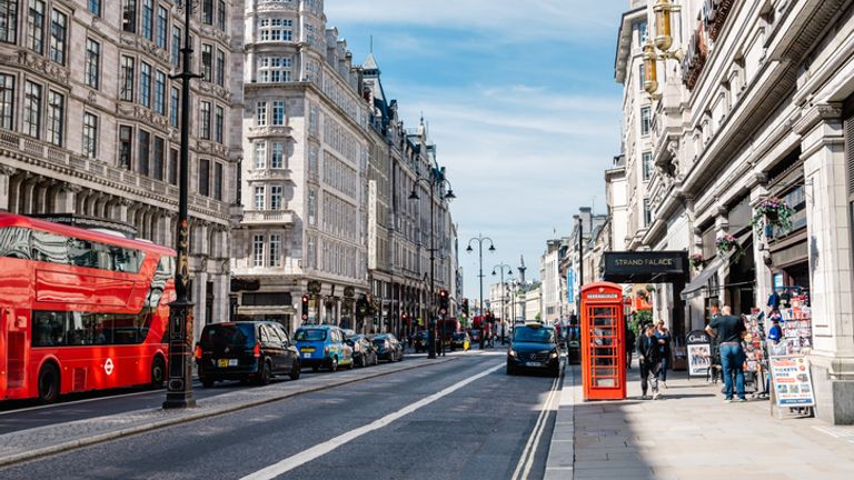 Friends of the Earth says The Strand recorded the highest NO2 levels in London