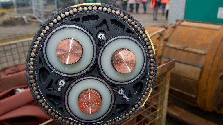 The power will be transferred via a submarine cable