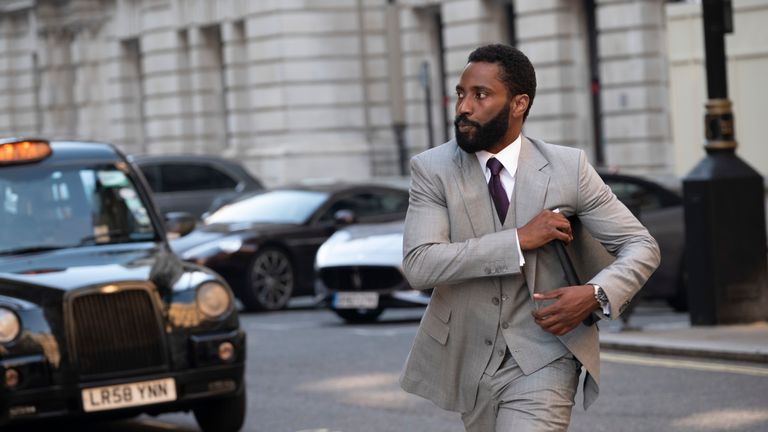 John David Washington stars in Tenet. Pic: Melinda Sue Gordon/Warner Bros. Entertainment