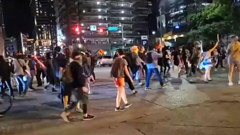 Anti-racism protest in Austin, Texas
