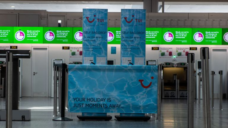 Tui has cancelled flights to mainland Spain