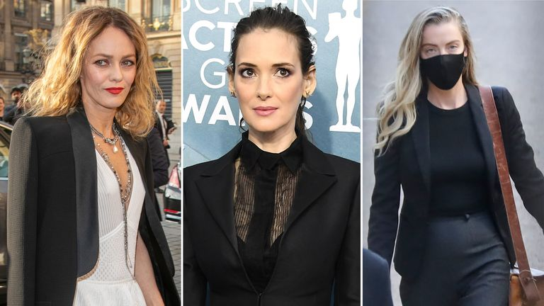 (L to R) Vanessa Paradis, Winona Ryder and Whitney Henriquez