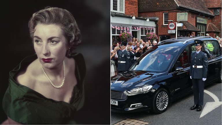 Mourners lined the streets of Ditchling to say goodbye to the forces' sweetheart