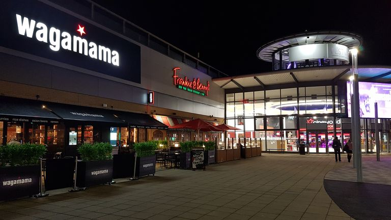 File photo dated 08/03/20 of a Wagamama and a Frankie & Benny's restaurant at Festival Leisure Park in Basildon, Essex