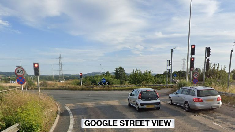 The man was stabbed on an M5 slip road. Pic: Google Street View