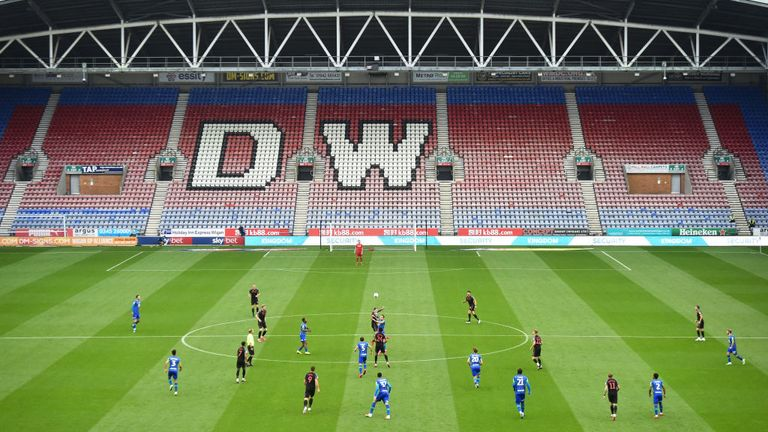 Wigan Athletic v Stoke City at the DW Stadium on 30 June