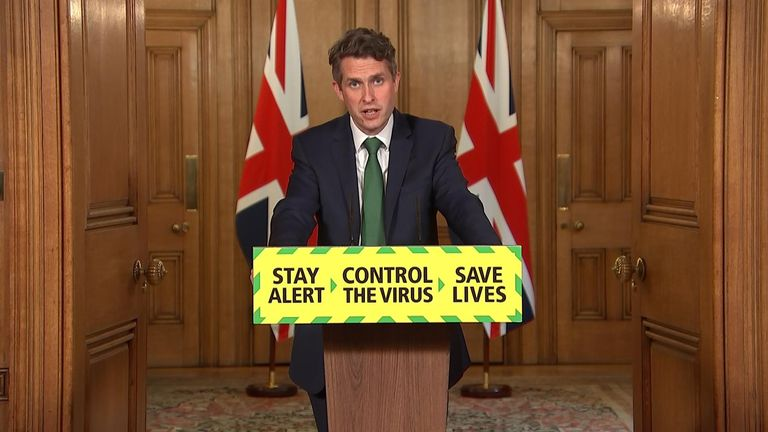 Education Secretary Gavin Williamson said school attendance will be 'mandatory from September'