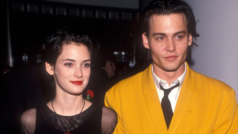 Winona Ryder and Johnny Depp in 1990