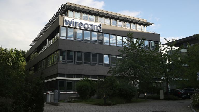The corporate headquarters of Wirecard in Aschheim, shown here, were raided early on Wednesday morning