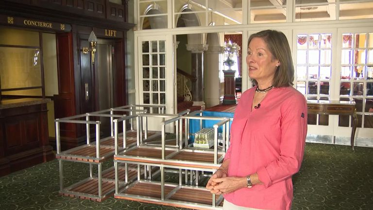 Headland Hotel owner Caroline Armstrong says a lot of the personal touches will be missing