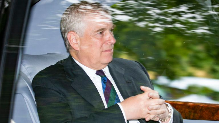 prince andrew duke of york in car