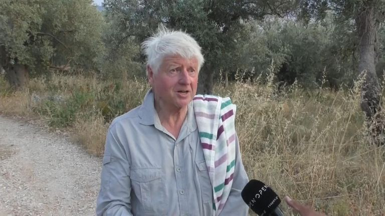 Stanley Johnson, the father of the prime minister, claims he went to Greece to 'COVID-proof' his villa.