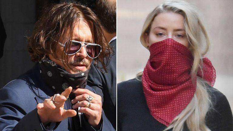 Johnny Depp and Amber Heard. Pics: David Fisher/James Veysey/Shutterstock