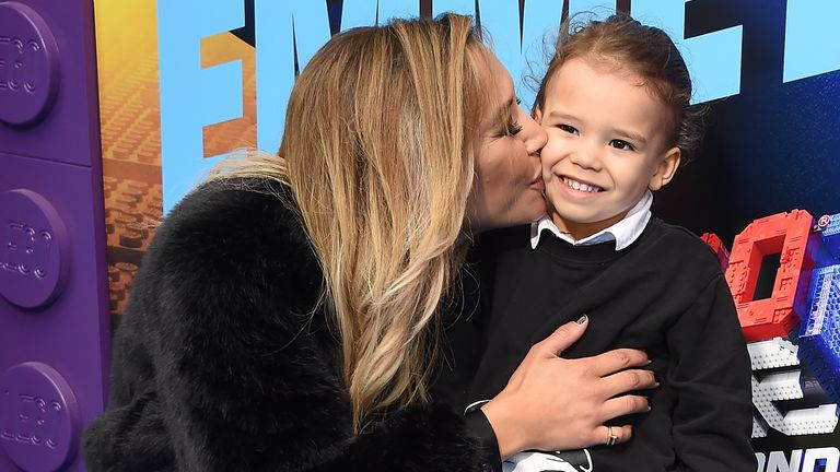 Naya Rivera and son Josey Hollis, 4, pictured together in February, 2019 . File pic