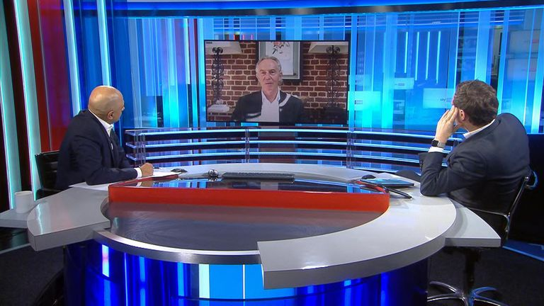 Tony Blair was speaking to Sky's Ed Conway and former chancellor Sajid Javid