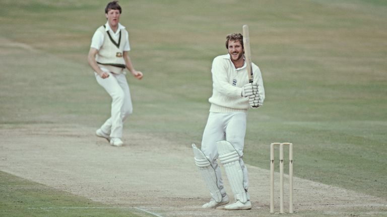 Sir Ian, pictured here in 1981, is considered one of Britain's best ever cricketers