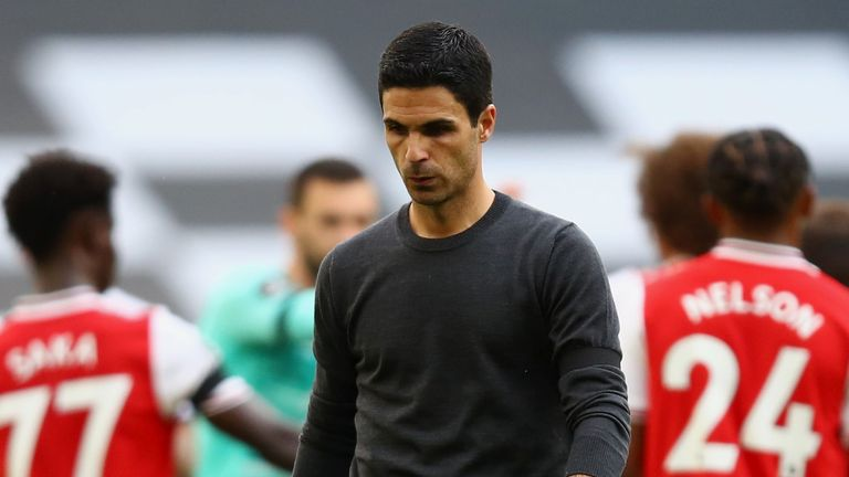 Arsenal boss Mikel Arteta after the defeat at Tottenham