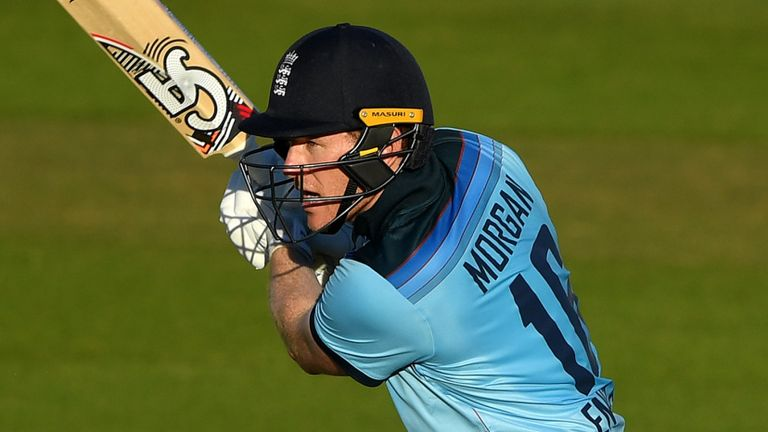 Eoin Morgan finishes the first ODI in style as England beat Ireland by six wickets to go 1-0 up in the series