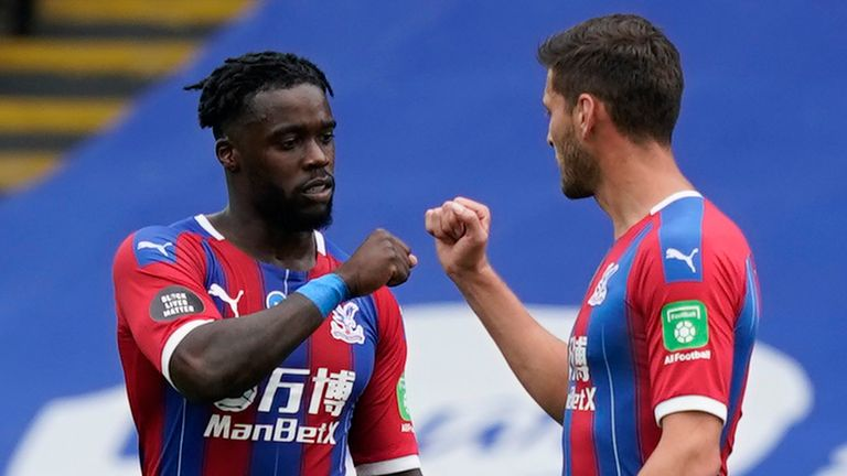 Watch highlights from Crystal Palace's 2-1 win against Oxford United as Jeffrey Schlupp failed with a tame penalty