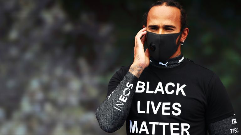 Lewis Hamilton said the pre-race scenes at the Hungarian GP were 'embarrassing', and has called on F1's authorities to do 'much more' in the fight against racism and inequality.