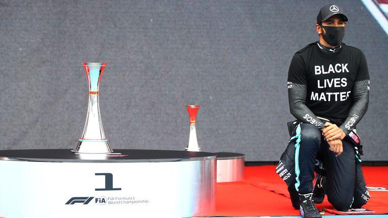 Lewis Hamilton says F1's pre-race anti-racism display felt