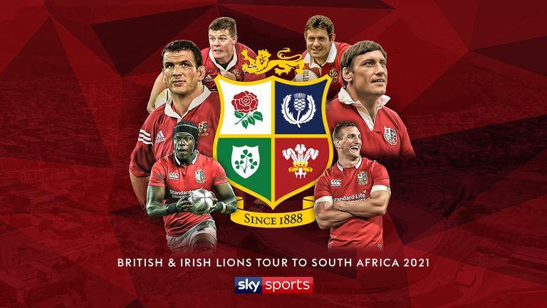 Sky Sports will exclusively show the British and Irish Lions' eight-game tour to South Africa in 2021