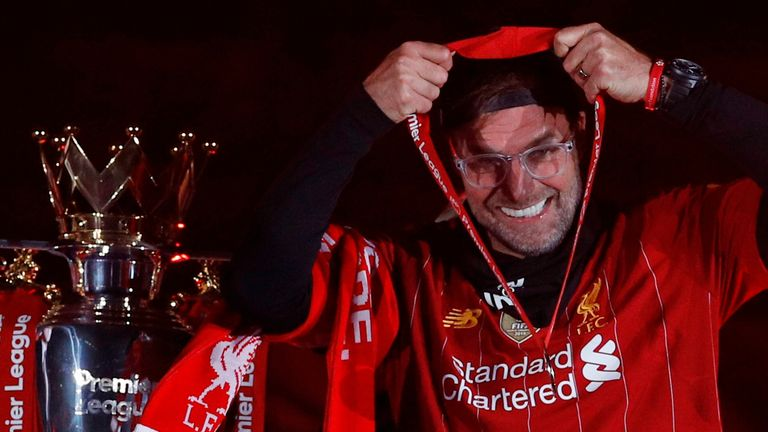 Jurgen Klopp says going up onto the Kop and having family and loved ones around him during the trophy lift made the moment extra special.